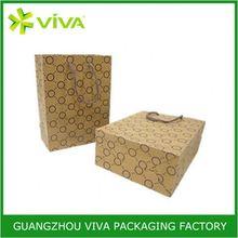 Recyclable side gusset kraft paper bag packaging