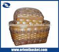gran conjunto decorativo astillas de madera de almacenamiento cesta