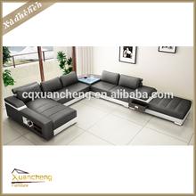 genuine leather u shaped sectional sofa,XC-ALT-AL225-1