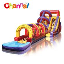 super splash inflatable water slide/Large inflatable water slide n slip