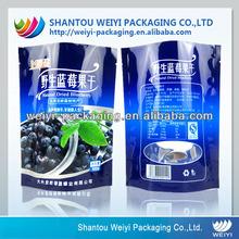 Custom printed resealable plastic bags for food packaging