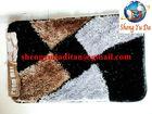 Hot sale Small Polyester Silk Shaggy Rug Bath Mat size 40cmX60cm 50cmX80cm 60cmX90cm or customized size