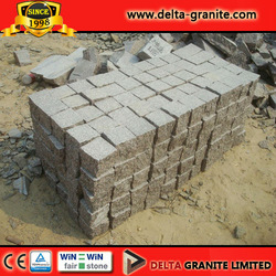 China Flamed granite cubes with high grade, CE certificate Flamed granite cubes for promoting