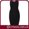 2014 strapless evening black chiffon cocktail dress