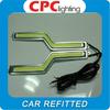 2014 NEW car led daytime running light Z Shape Cob DRL/led cob drl