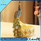 Best price lovely Peacock Design Luxury resinic art work Craft Ashtray supply from China factory