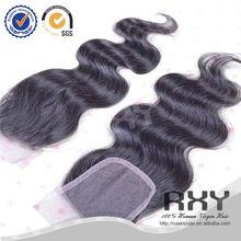 Popular human virgin Professional brazilian hair weave closures