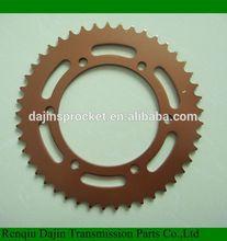 Dajin 1045 steel chain sprocket for motorcycle/motorcycle parts chain sprocket/suzuki ax100 parts