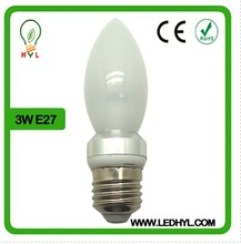 Best selling high quality 360 degree view angle camera 3w e27 smd led candle light bulb