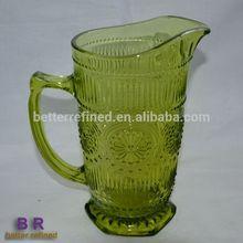 Sunflower shape Crystal Glass pitcher