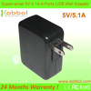25 Watts 5V / 5A 4-Port USB Wall Charger iPhone iPad Tablet Gopro PhoneEasyAcc 25 Watts 5V / 5A 4-Port USB Wall Charger iPhone i