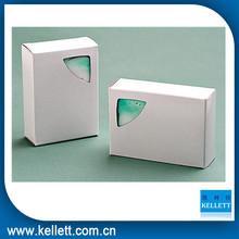 White paper soap box and soap paper box