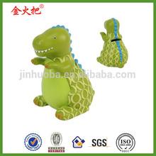 Résine vert dinosaure mariage, monnaie de banque d'étain de cadeau pour enfant