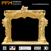 China factory price natural stone hand-craved carved white marble elegant fireplace