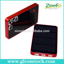 High capacity dual USB solar digital battery charger