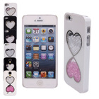 C1074 Diamond Double Heart C3 Case Cover Skin For iPhone 4 4S 5 5S Samsung Galaxy S4