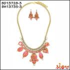Antique fashion design handmade imitation dubai one gram gold jewellery