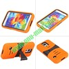 Stripe Design Detachable Hybrid Silicone + PC Hard Case with Stand for Samsung Galaxy S5 / I9600