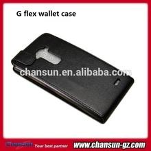 black pu flip leather case for lg g flex f340