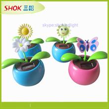 Newest Solar Toy Product mini solar flower,solar apple flower