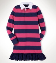 De los niños de las muchachas del algodón de corte de Rugby vestido ( 7-16years )