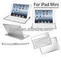 Teclado de alumínio de Bluetooth Case capa para Apple iPad Mini