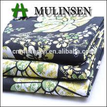 Mulinsen Textile High Quality Big Flower Design Stretch Poplin Indonesia Cotton Printed Fabric