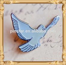 2014 New Custom Metal Hotsale Little Dove Lapel Pin - Enamel Bird in Flight Lapel Pin Badge Brooch