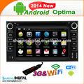 de alta calidad 2 din pantalla táctil wifi 3g kia optima android de dvd del coche