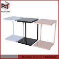 multifuncional mesa de canto de vidro colorido sofá mesa de mesa