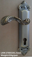 Egyptian aluminum door handle and lock in door and window handles
