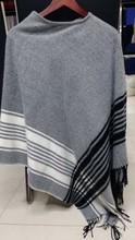 stripe winter acrylic poncho shawl&kick pleat scarf big scarf, wool shawl polyester scarf