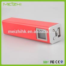 cheep 2200mAh power bank A grade 18650 li-ion battery inside 2400mAh led light prefume power bank charger