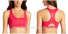 custom blank design women's slim fiting running mesh back short sports bra top /singlets/tank top , fitness / yoga /sports wear