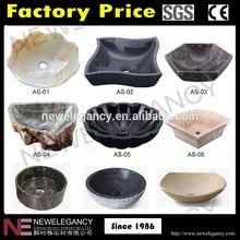 Guangzhou fabricante feitos à mão mármore pia farm com certificação CE