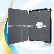newest elegant design yellow rubber duck leaher flip case for ipad mini2