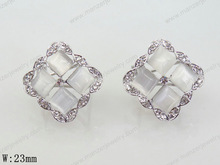 victorian style 2014 fashion top grade 925 sterling silver ball earring stud jewelry