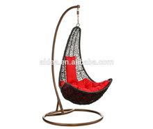 wicker swing chair+ cane swing chair