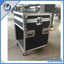 Professional wheeled equipment cabinet aluminum flight case