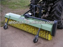 waved yellow PP filament snow brush/ power snow brush/ snow cleaning machine