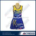 100% de poliéster personalizado sublimación de niña vestido baloncesto