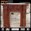 Modern decorative 100% hand-craved natural marble hand carved indoor natural elegant fireplace mantel