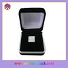 Personnalized single plastic velvet aluminium coin box