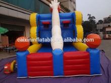 high quality inflatable basketball shooting cage/ inflatable basketball shooting simulator/ inflatable basketball shoot game