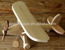 2015 newest popular hot sale China kids gift handmade craft wholesale custom decorative children model ornament wooden toy plane