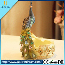 2014 Fashion design Peacock type wooden handcraft ashtray/handcrafted products for decoration made in China