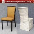 Yc-e67-07 sala de jantar moderna cadeira com spandex tampa