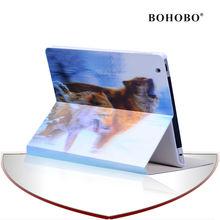 BOHOBO 3d sublimation case,animal flip leather case for Ipad 5