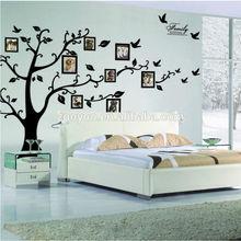 çıkarılabilir vinil ev duvar sticker/duvar decal 3d ev dekor fotoğraf aile ağacı