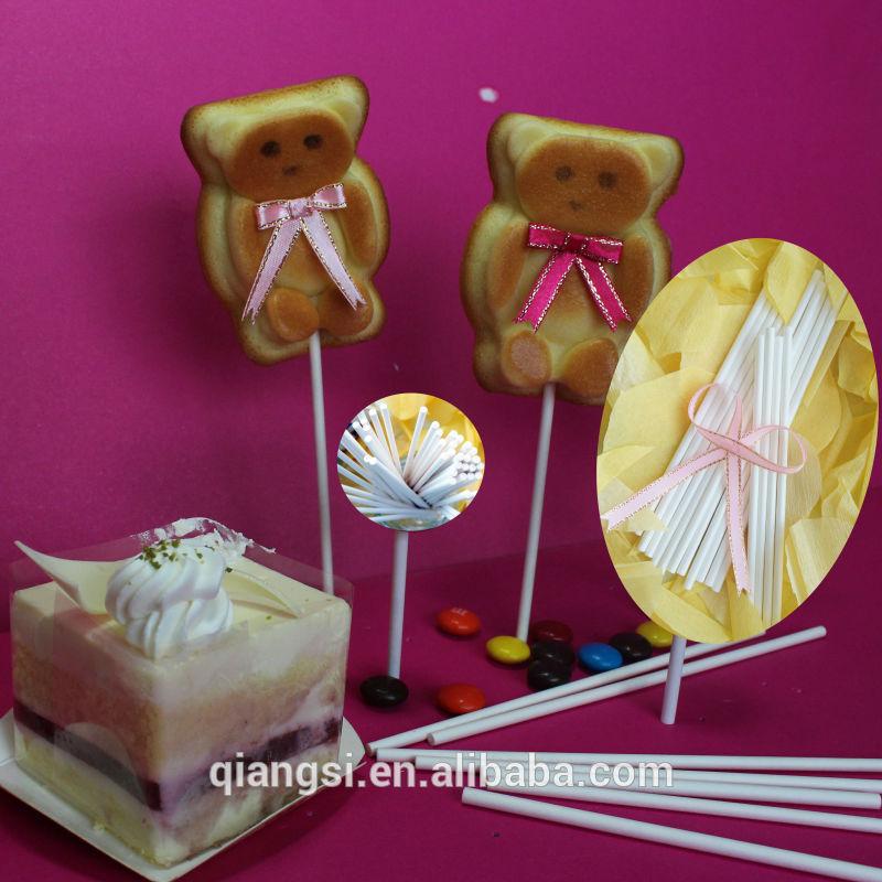 ديكور أبيض cakepop العصي